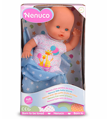 Nenuco recém-nascido com sons